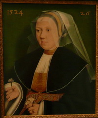 photo credit Susan Kramer; Portrait of an Old Woman by Barthel Bruyn de oude, 1524