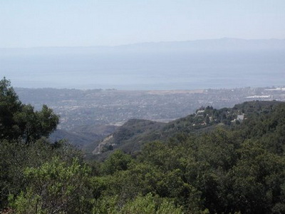 Looking out to the Pacific Ocean from the ridge behind Santa Barbara, California. Photo credit Susan Kramer