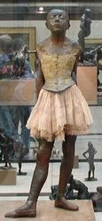 Description: Little Dancer at 14 by Edgar Degas; photo credit Susan Kramer
